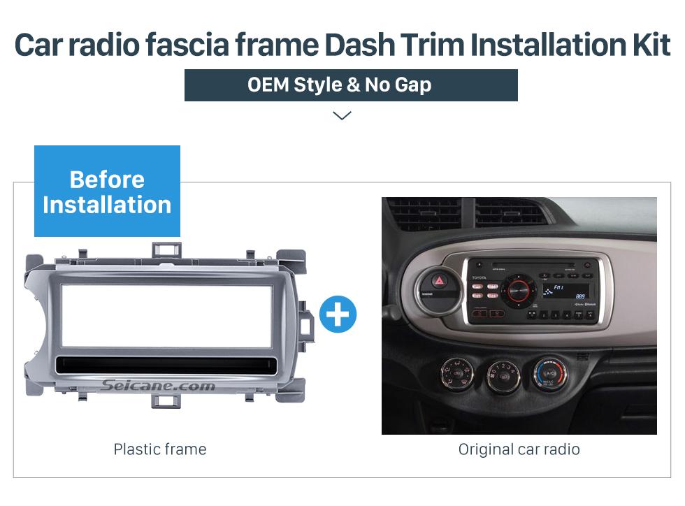 Car radio fascia frame Dash Trim Installation Kit Perfect 1Din 2012 Toyota Yaris Vitz LHD Car Radio Fascia Audio Fitting Adaptor Dash Kit Face Plate Installation Frame