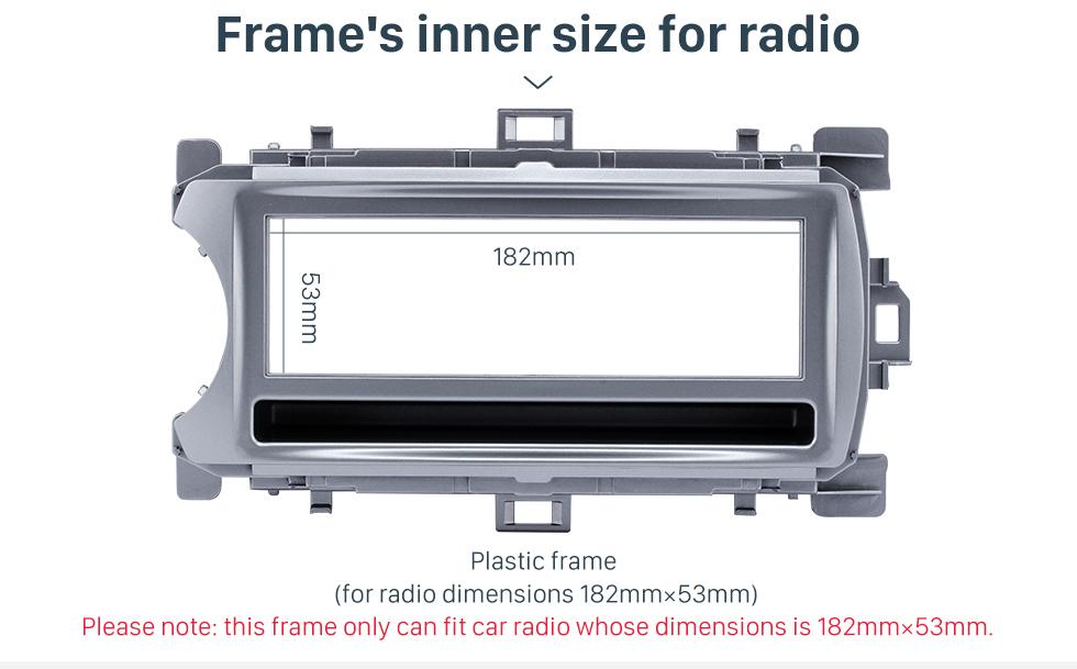 Frame's inner size for radio Perfect 1Din 2012 Toyota Yaris Vitz LHD Car Radio Fascia Audio Fitting Adaptor Dash Kit Face Plate Installation Frame