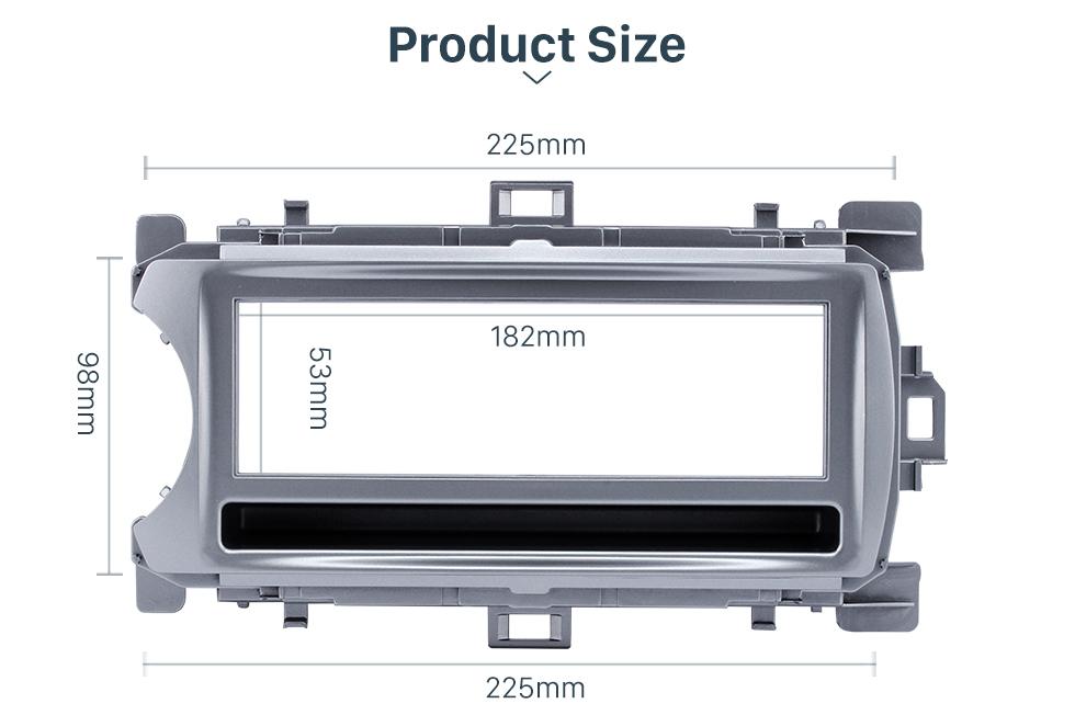 Product Size Perfect 1Din 2012 Toyota Yaris Vitz LHD Car Radio Fascia Audio Fitting Adaptor Dash Kit Face Plate Installation Frame