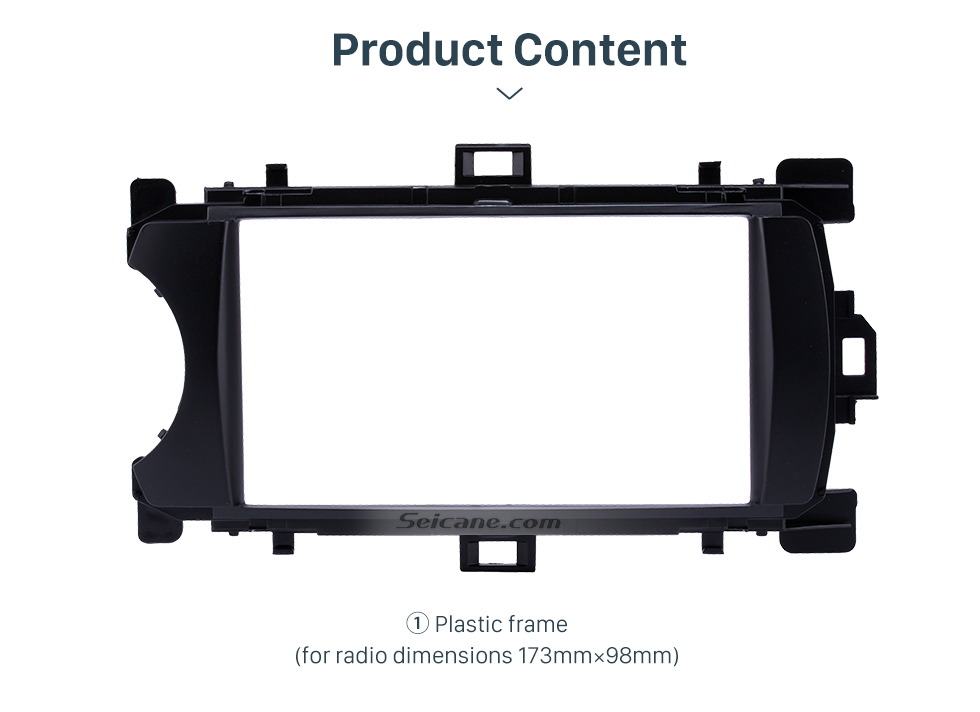 Product Content Ingenious Double Din 2012 Toyota Yaris Vitz LHD Car Radio Fascia Stereo Dash CD Trim Bezel Audio Cover Frame