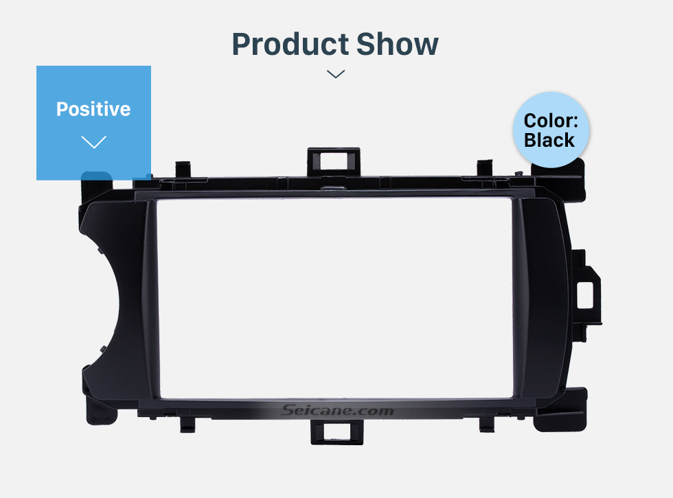 Product Show Ingenious Double Din 2012 Toyota Yaris Vitz LHD Car Radio Fascia Stereo Dash CD Trim Bezel Audio Cover Frame