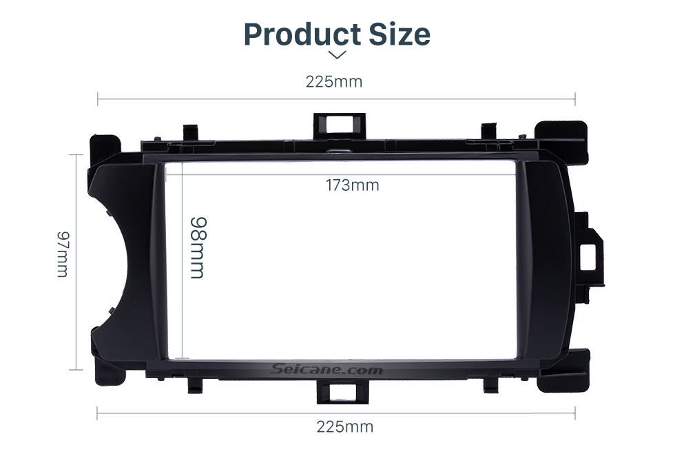 Product Size Ingenious Double Din 2012 Toyota Yaris Vitz LHD Car Radio Fascia Stereo Dash CD Trim Bezel Audio Cover Frame
