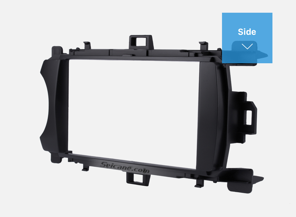 Side Ingenious Double Din 2012 Toyota Yaris Vitz LHD Car Radio Fascia Stereo Dash CD Trim Bezel Audio Cover Frame