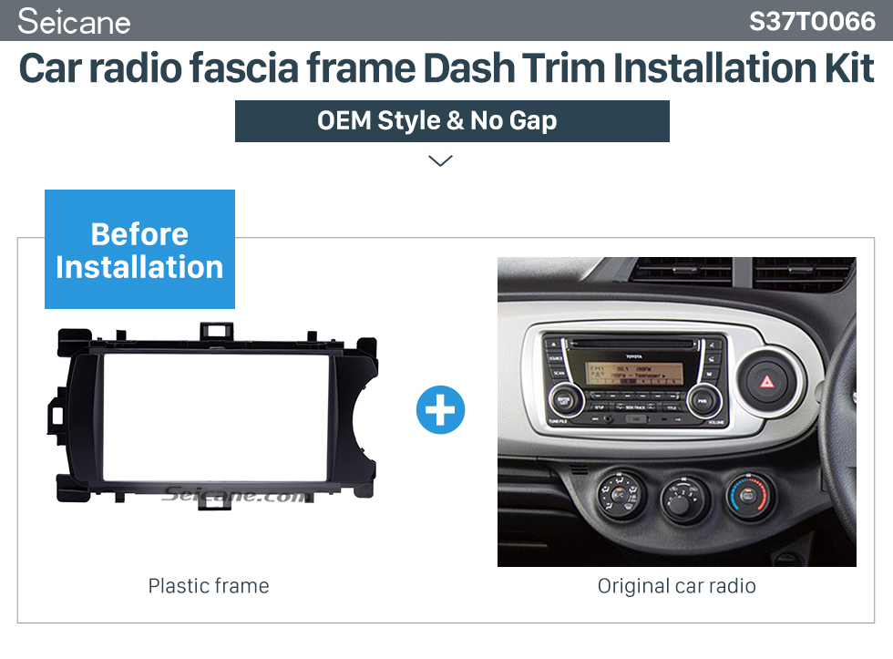 Car radio fascia frame Dash Trim Installation Kit  Deluxe 2Din 2012 Toyota Yaris Vitz RHD Car Radio Fascia Face Plate DVD Frame Stereo Player Dash Kit