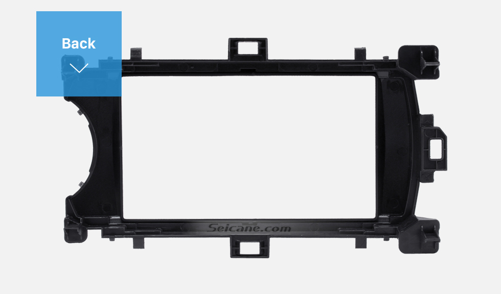 Back Deluxe 2Din 2012 Toyota Yaris Vitz RHD Car Radio Fascia Face Plate DVD Frame Stereo Player Dash Kit