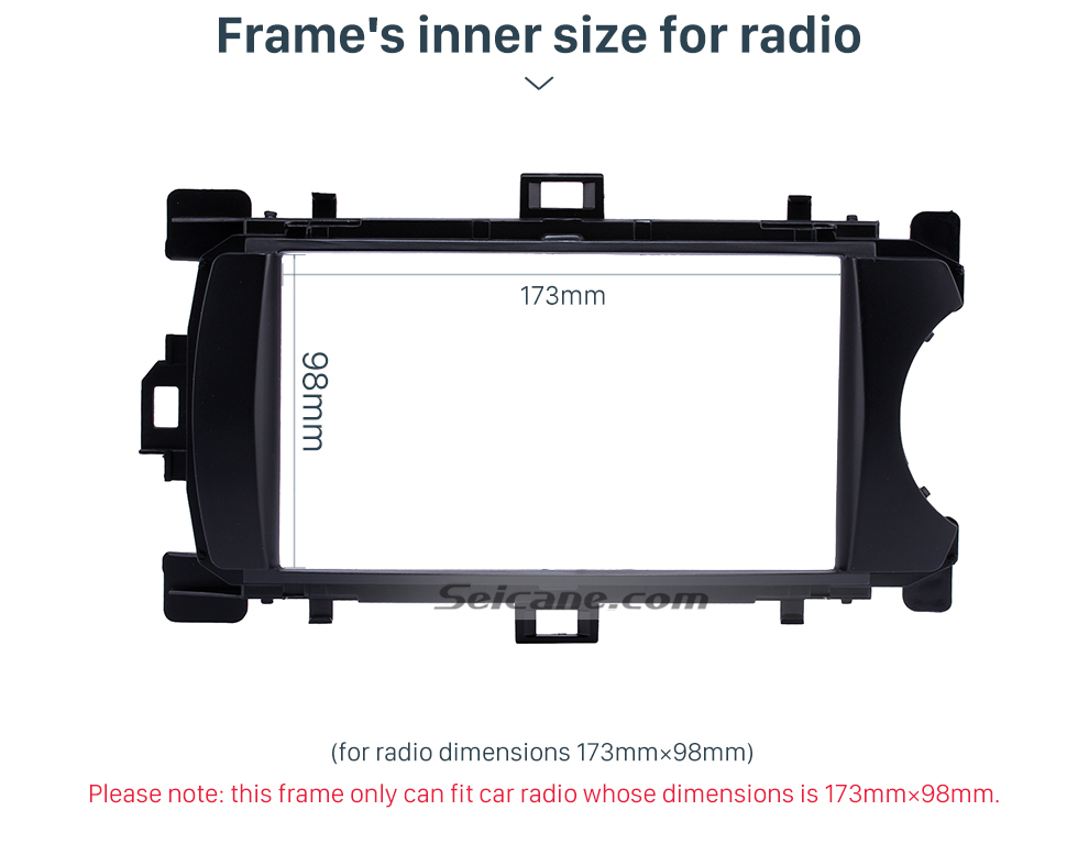 Frame's inner size for radio Deluxe 2Din 2012 Toyota Yaris Vitz RHD Car Radio Fascia Face Plate DVD Frame Stereo Player Dash Kit
