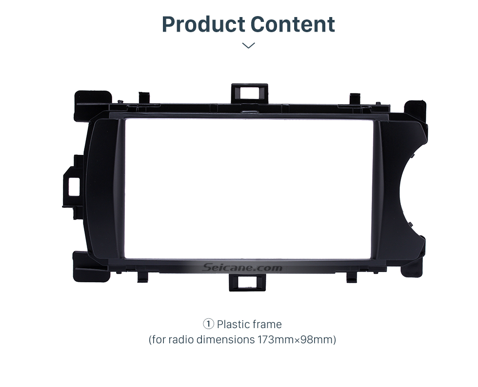 Product Content Deluxe 2Din 2012 Toyota Yaris Vitz RHD Car Radio Fascia Face Plate DVD Frame Stereo Player Dash Kit
