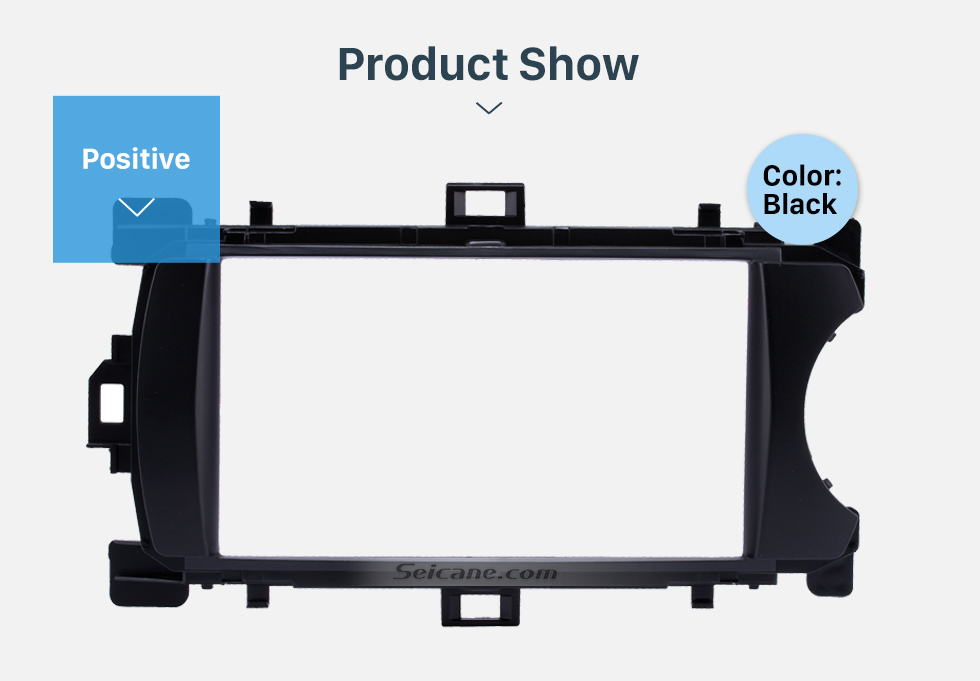 Product Show Deluxe 2Din 2012 Toyota Yaris Vitz RHD Car Radio Fascia Face Plate DVD Frame Stereo Player Dash Kit