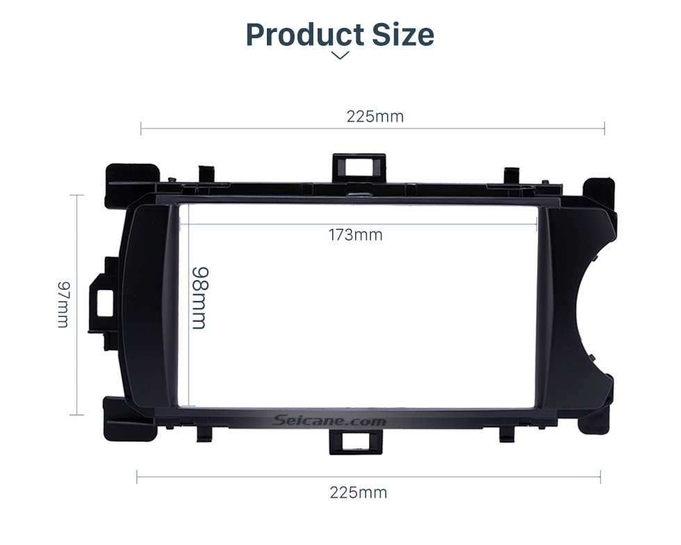 Product Size Deluxe 2Din 2012 Toyota Yaris Vitz RHD Car Radio Fascia Face Plate DVD Frame Stereo Player Dash Kit