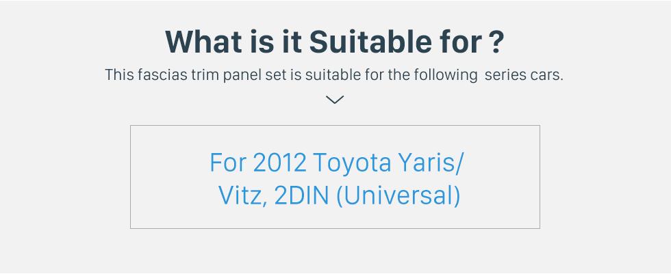 Seicane Universal Double Din 2012 Toyota Yaris Vitz Car Radio Fascia CD Trim Installation Panel Adaptor Audio frame