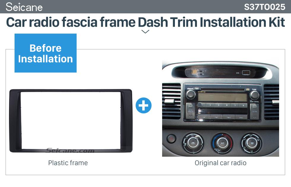 Seicane Nice Double Din 2002-2006 Toyota Camry American Version Car Radio Fascia Audio frame Dash Mount Surround Panel