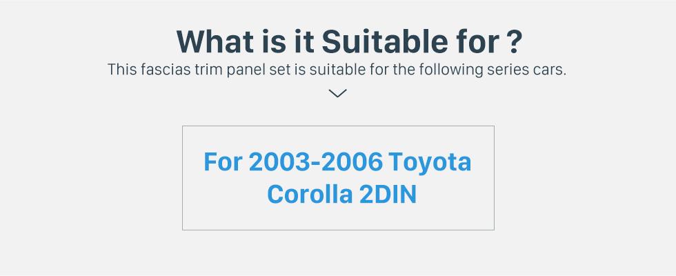 Seicane Classic Double Din 2003-2006 Toyota Corolla Car Radio Fascia Stereo Dash CD Trim Bezel Audio frame