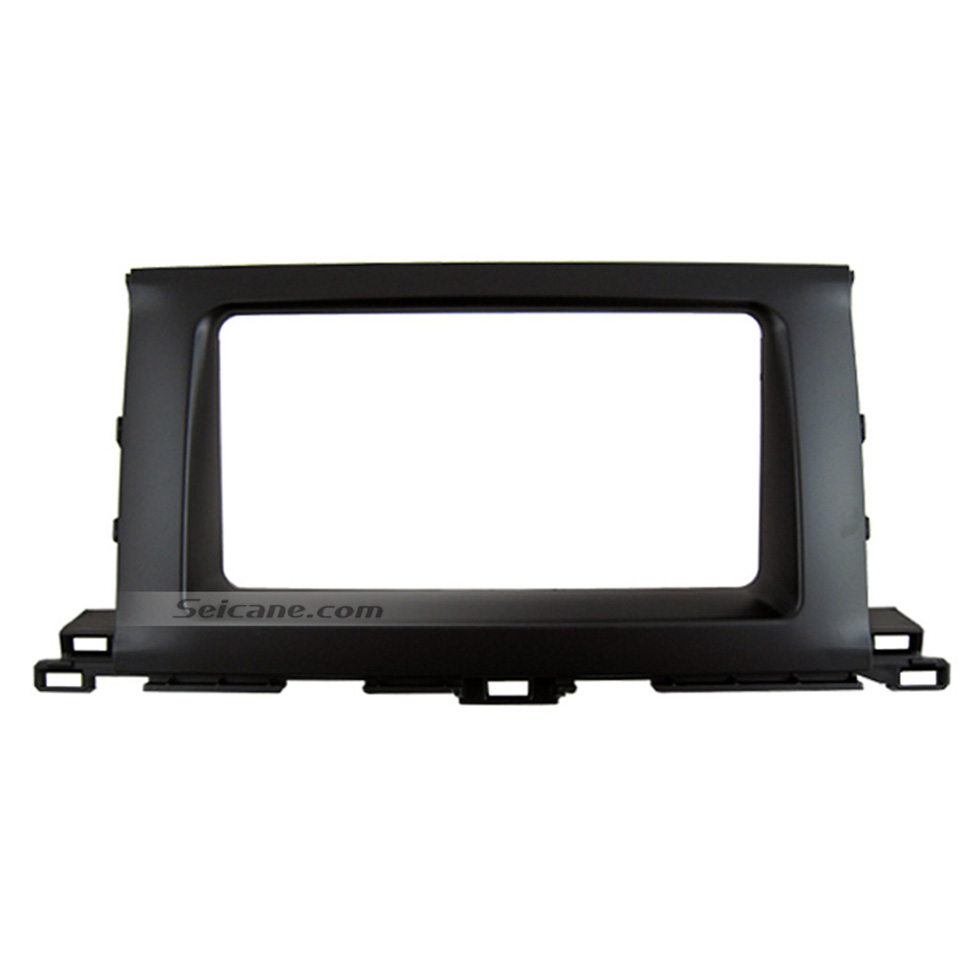 Seicane Newest 2Din 2014 Toyota Highlander Kluger Car Radio Fascia Audio Player DVD panel CD Trim