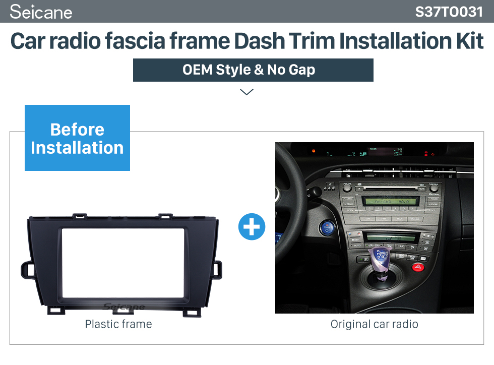 Well Designed Double Din 2010 Toyota Prius Lhd Car Radio Fascia