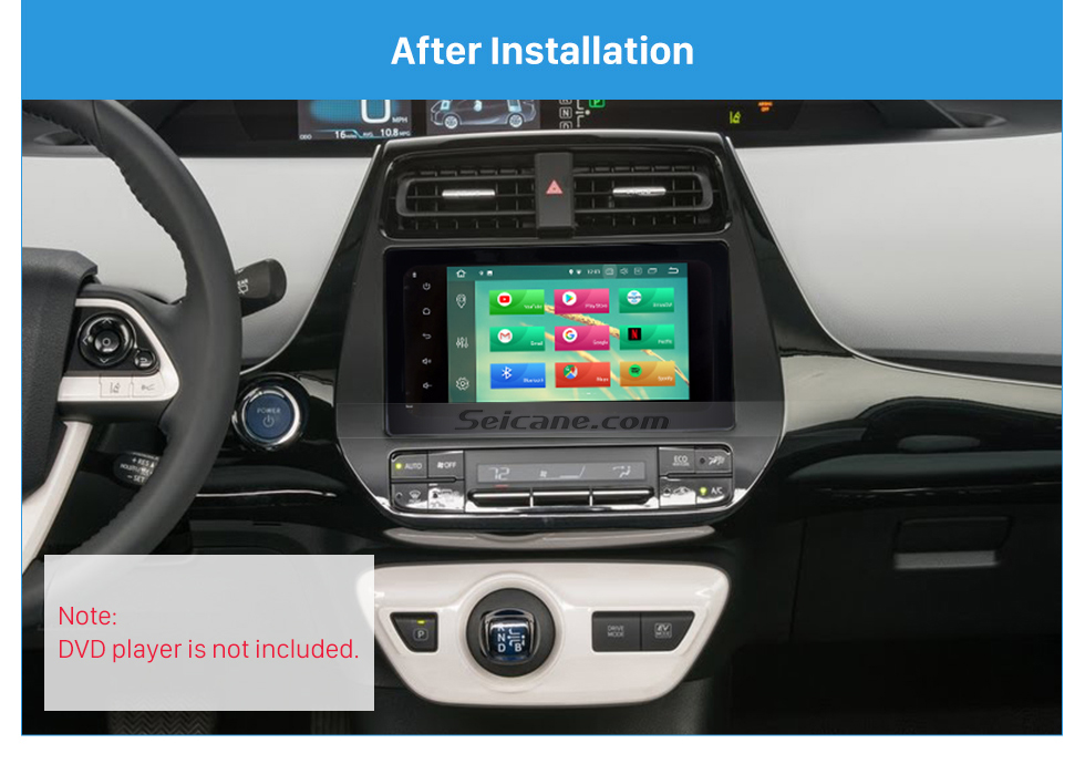 After Installation Hot Double Din 2016 Toyota Prius Car Radio Fascia Stereo Dash CD Panel Frame Audio Cover