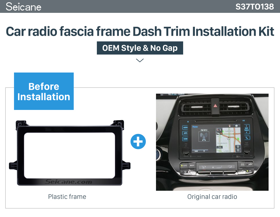 hot double din 2016 toyota prius car radio fascia stereo. Black Bedroom Furniture Sets. Home Design Ideas