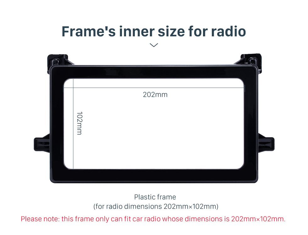 Frame's inner size for radio Hot Double Din 2016 Toyota Prius Car Radio Fascia Stereo Dash CD Panel Frame Audio Cover