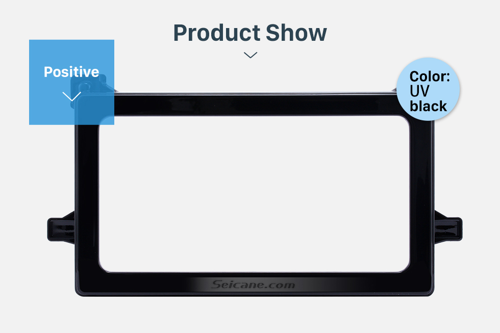 Product Show Hot Double Din 2016 Toyota Prius Car Radio Fascia Stereo Dash CD Panel Frame Audio Cover