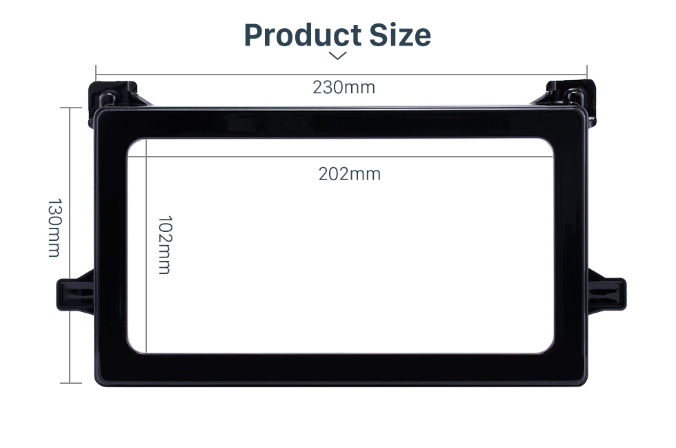 Product Sizel Hot Double Din 2016 Toyota Prius Car Radio Fascia Stereo Dash CD Panel Frame Audio Cover