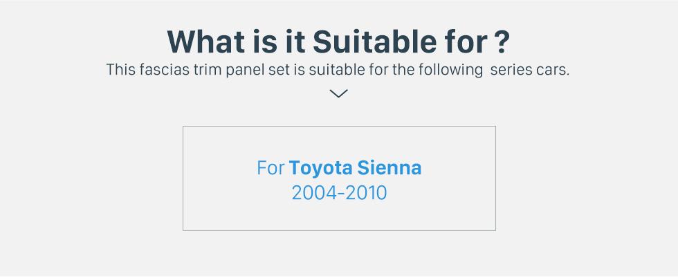 Seicane Excellent 2 Din 2004-2010 Toyota Sienna Car Radio Fascia Dash CD Frame Panel DVD Player