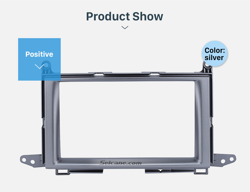 Seicane Wonderful Double Din 2011 Toyota Venza Car Radio Fascia Stereo Install DVD Frame Panel Plate