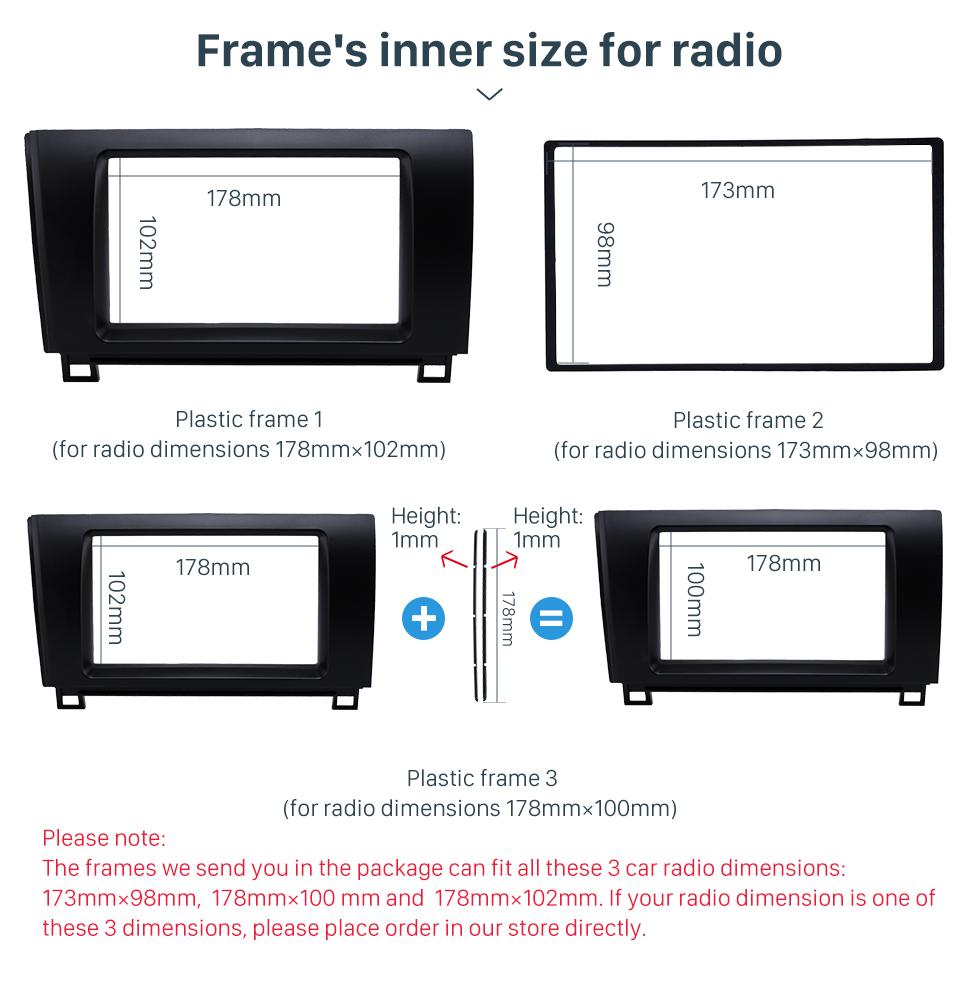 Seicane Superior 2Din 2008-2013 Toyota Sequoia Tundra Car Radio Fascia Trim Bezel Frame Audio Player Panel Adaptor