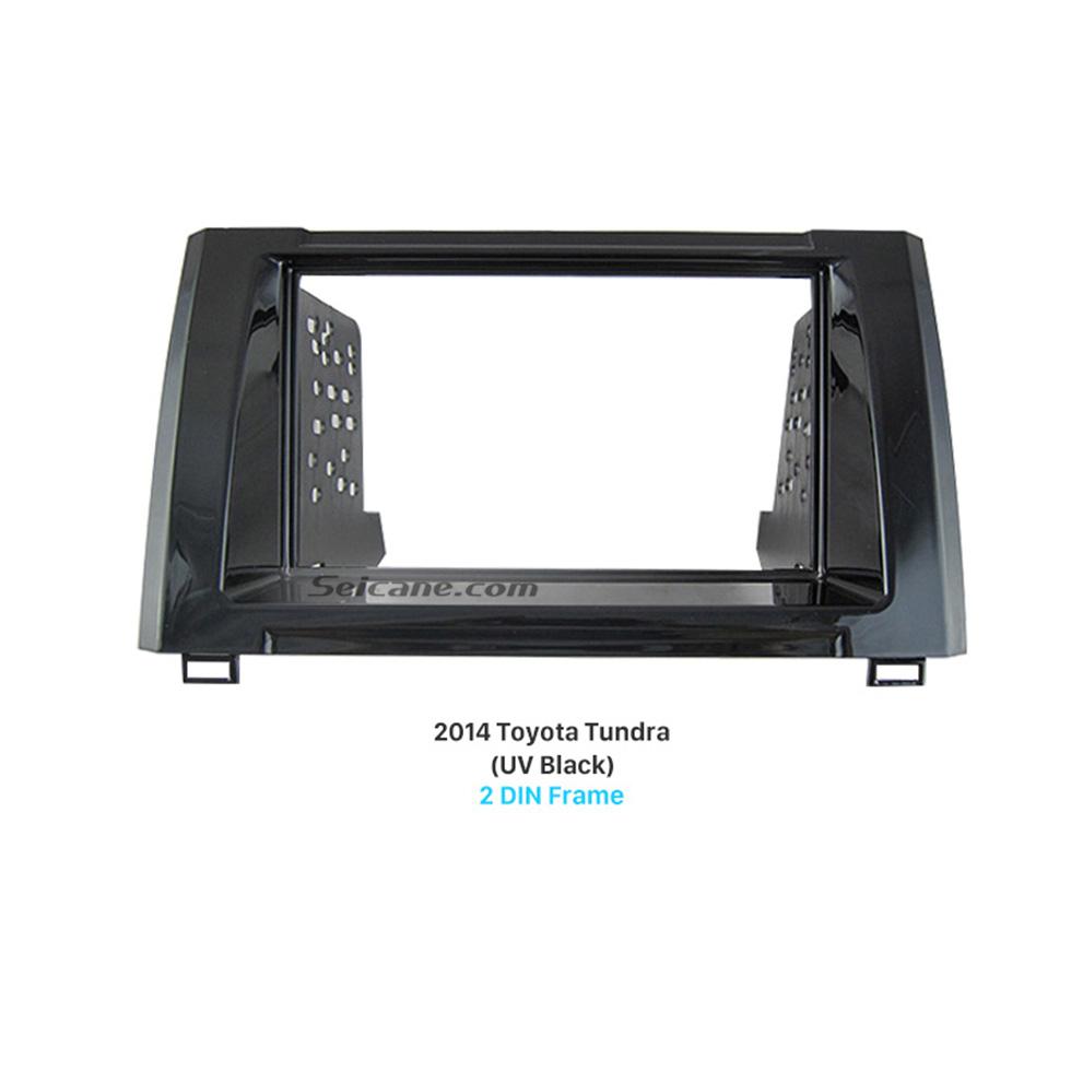 Seicane Beautiful Double Din 2014 Toyota Tundra Car Radio Fascia Panel Kit Face Plate Audio Cover