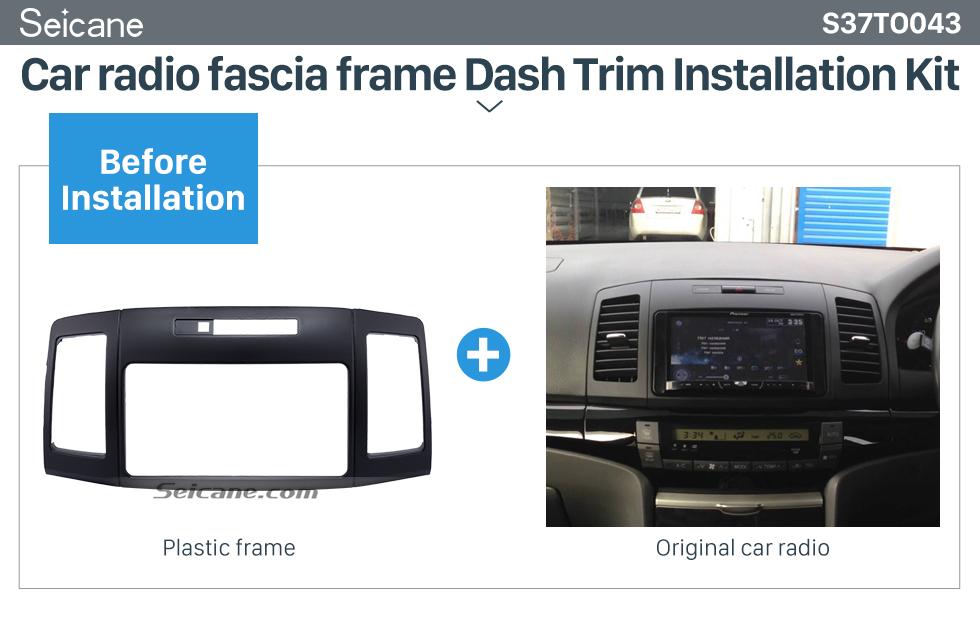 Seicane 202*102mm Double Din Toyota Allion 240 Car Radio Fascia Trim Installation Kit Dash CD Frame Audio Cover