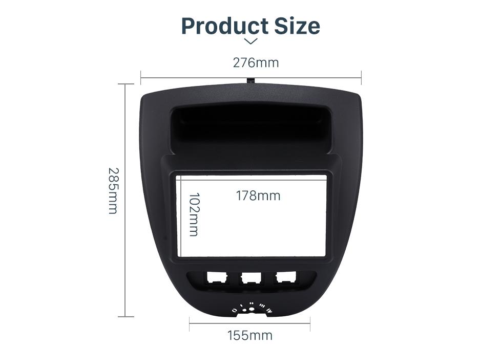Product Size Great 2Din Toyota Aygo Citroen C1 Peugeot 107 Car Radio Fascia DVD Panel Stereo Dash CD Trim Installation Frame