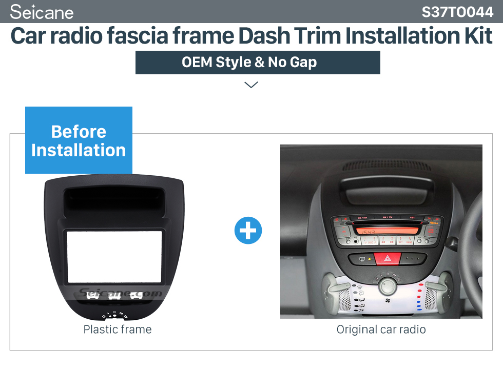 Car radio fascia frame Dash Trim Installation Kit  Great 2Din Toyota Aygo Citroen C1 Peugeot 107 Car Radio Fascia DVD Panel Stereo Dash CD Trim Installation Frame