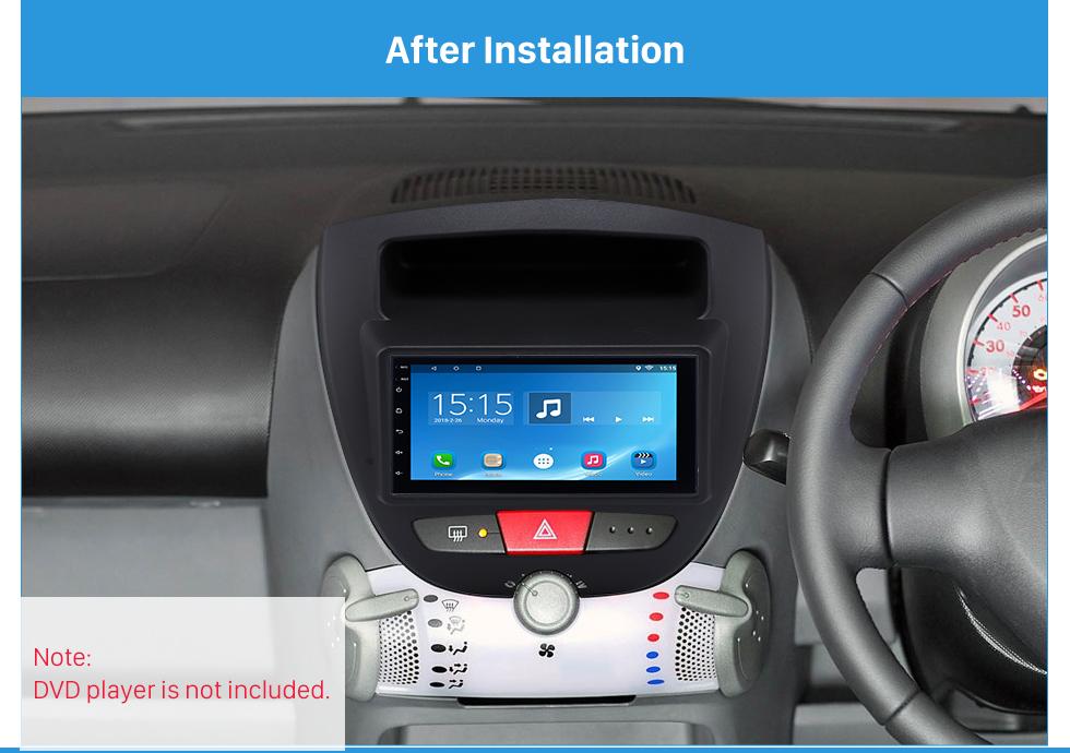 After Installation Great 2Din Toyota Aygo Citroen C1 Peugeot 107 Car Radio Fascia DVD Panel Stereo Dash CD Trim Installation Frame