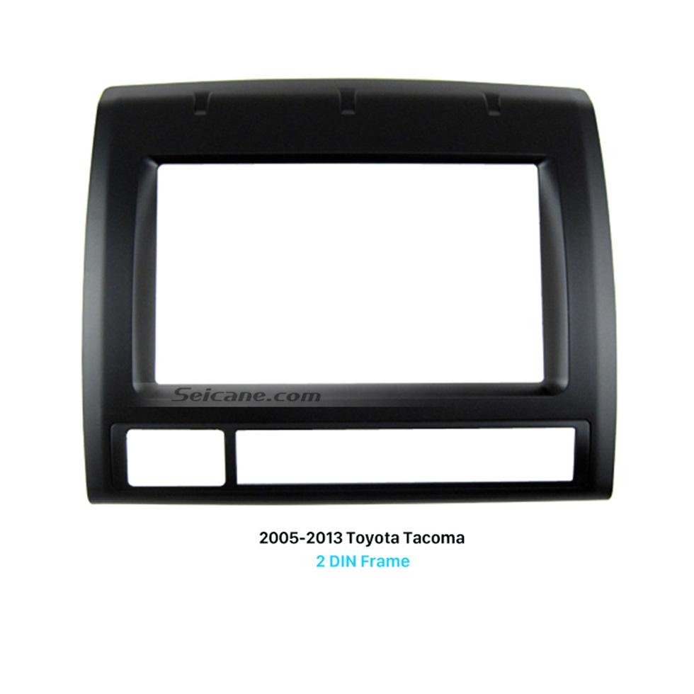 Seicane Professional Double Din 2005-2013 Toyota Tacoma Car Radio Fascia Dash CD Frame Panel Audio Fitting Adaptor