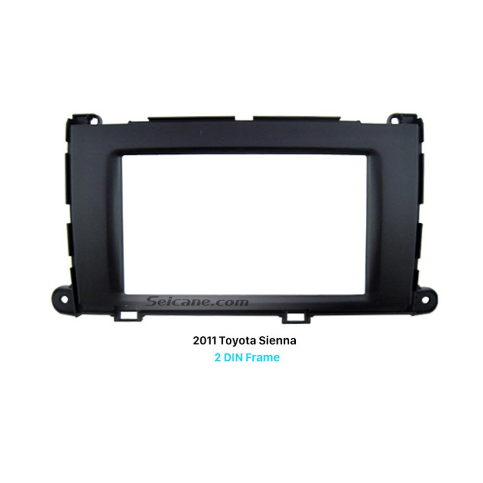 Seicane Perfect Double Din 2011 Toyota Sienna Car Radio Fascia Frame Panel Trim Installation Kit Dash CD