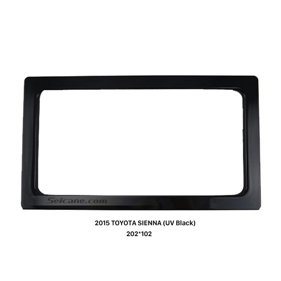 Seicane 202*102mm Double Din 2015 Toyota Sienna Car Radio Fascia Audio Fitting Adaptor Dash Mount Kit Frame Panel