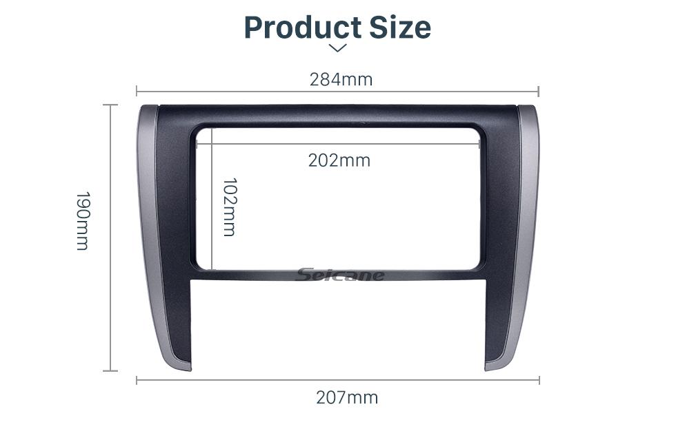 Seicane 202*102mm Double Din Toyota Allion 260 Car Radio Fascia Stereo Install Frame Audio Player Dash Mount Kit