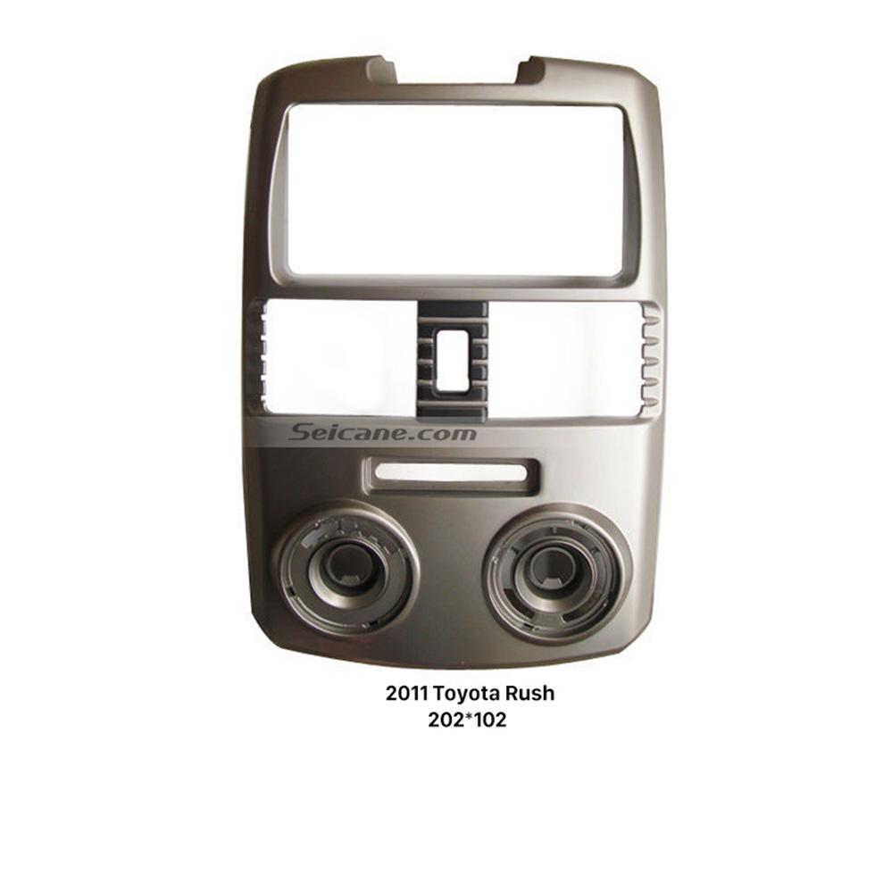 Seicane Combination Double Din 2011 Toyota Rush Car Radio Fascia Panel Kit Stereo Dash CD Install Frame