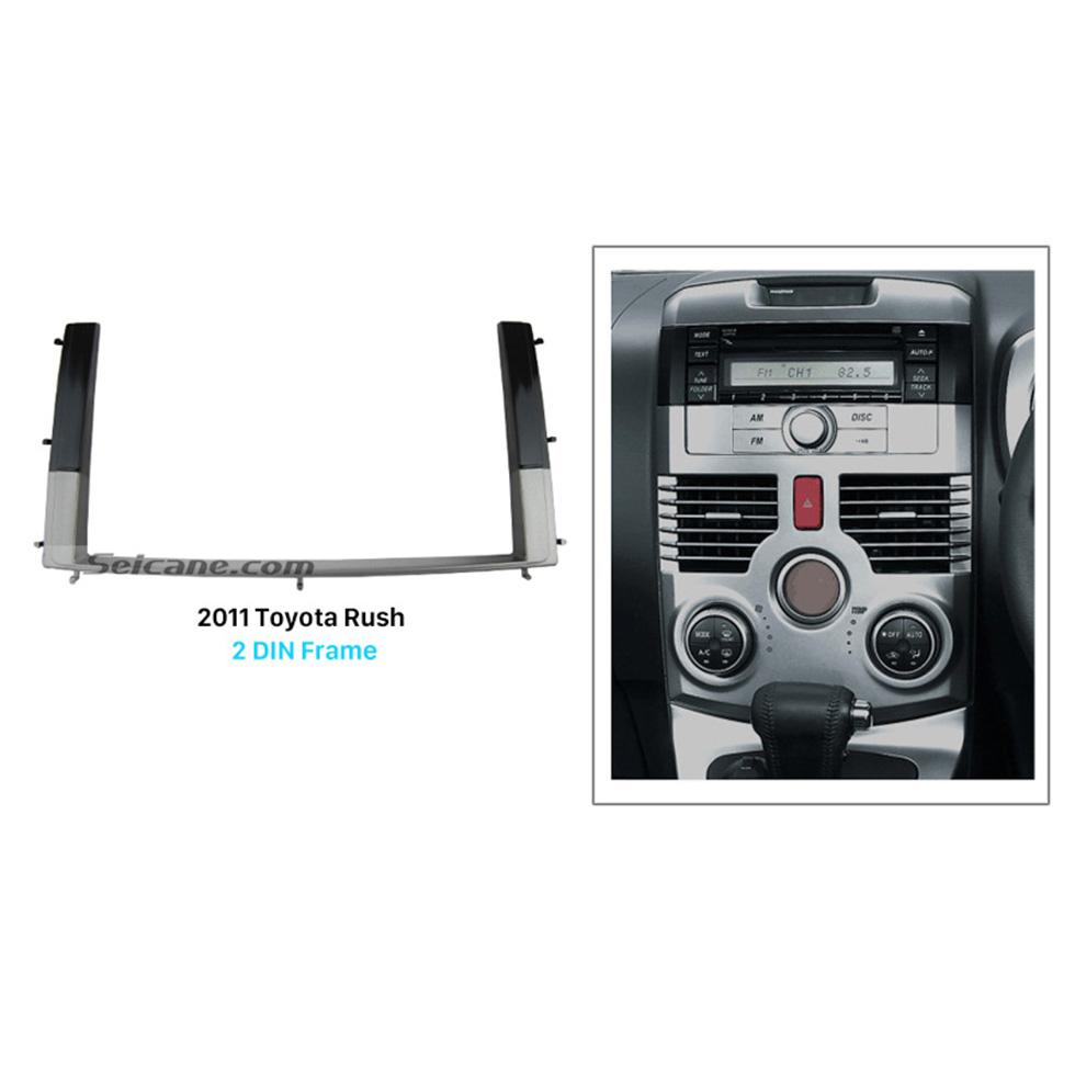 Seicane Separate Double Din 2011 Toyota Rush Car Radio Fascia Autostereo Panel kit Trim Bezel DVD Player