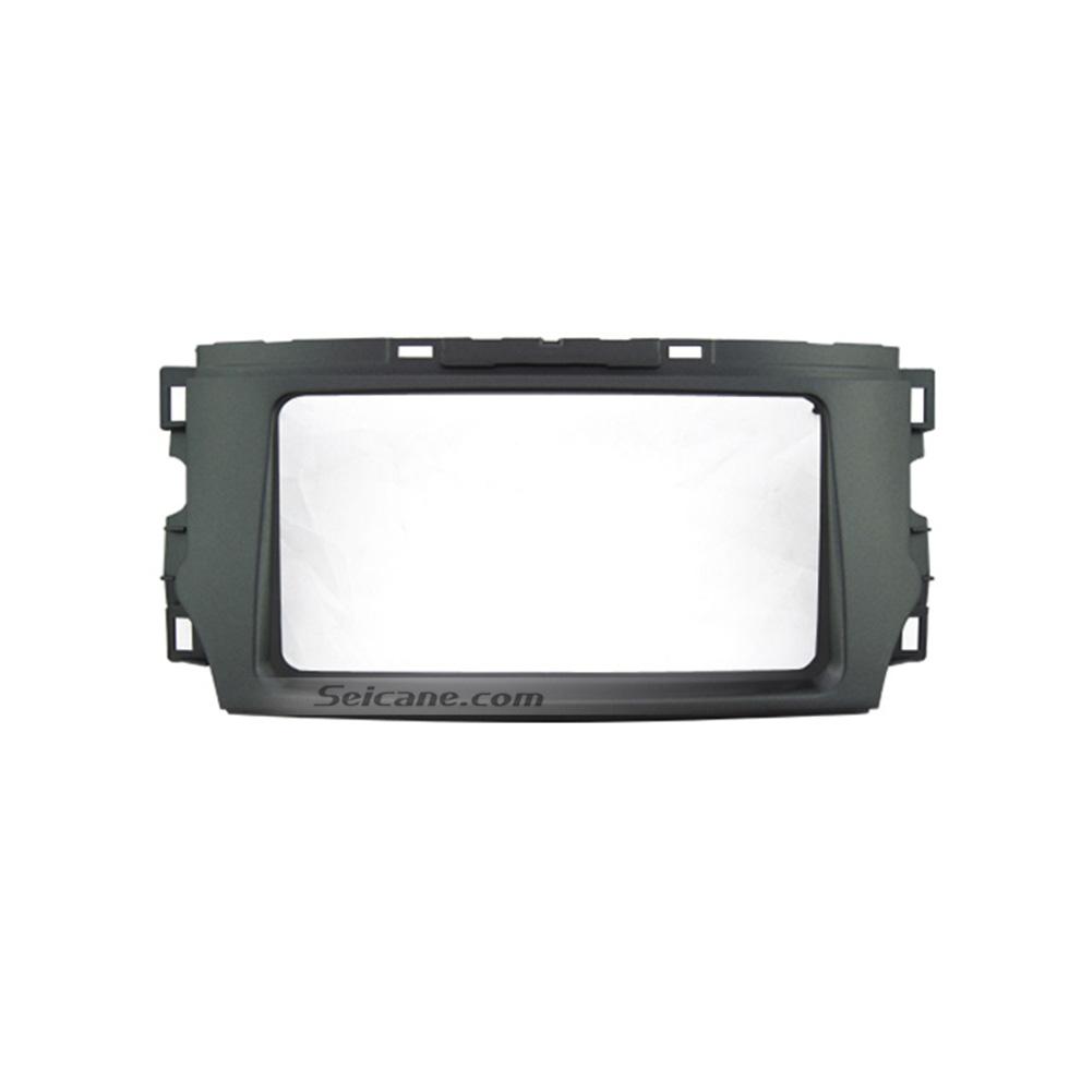 Seicane Black Double Din 2011 Toyota Avalon Car Radio Fascia Trim Installation Kit Face Plate Stereo Interface
