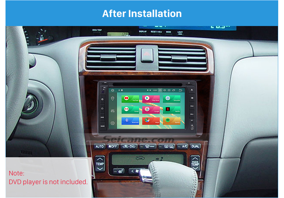 After Installation Classic Double Din 2000-2004 Toyota Avalon Car Radio Fascia Dash Mount Kit Face Plate Panel DVD Frame