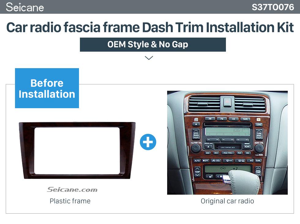 classic double din 2000 2004 toyota avalon car radio fascia dash mount kit face plate panel dvd frame classic double din 2000 2004 toyota