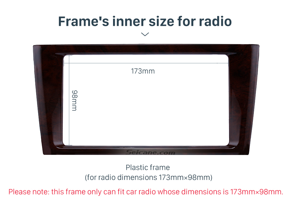 Frame's inner size for radio Classic Double Din 2000-2004 Toyota Avalon Car Radio Fascia Dash Mount Kit Face Plate Panel DVD Frame