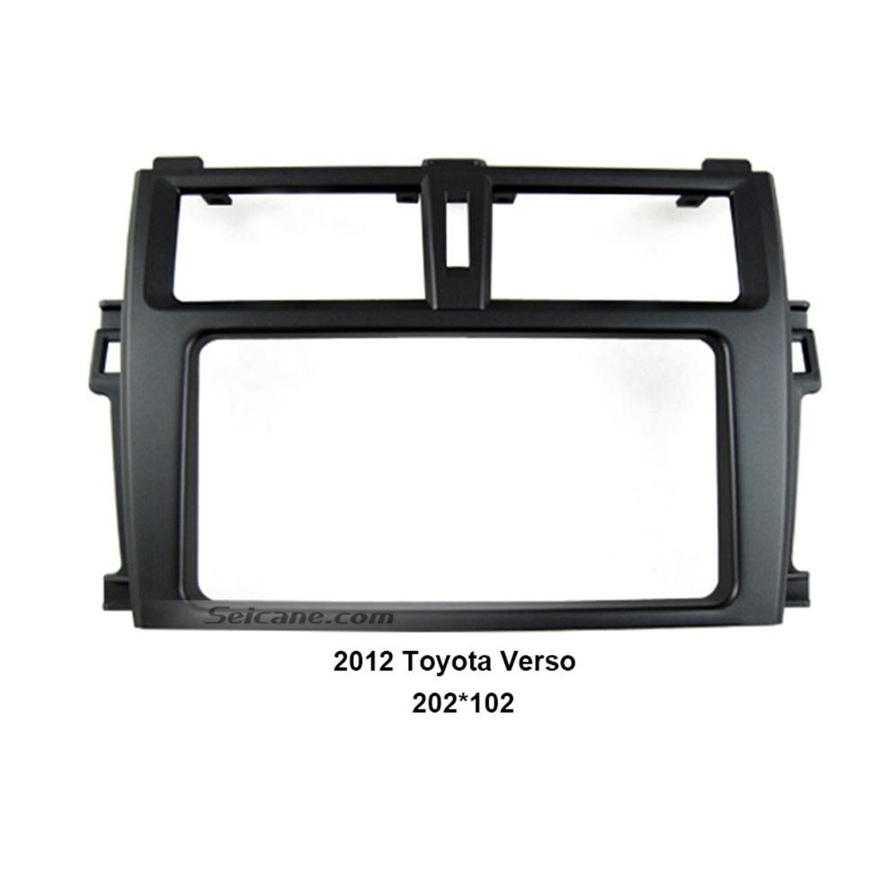 Seicane 202*102mm Double Din 2012 Toyota Verso Car Radio Fascia Autostereo Panel kit Audio frame Dash CD