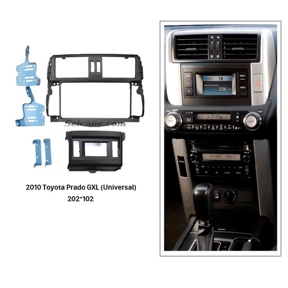 Seicane Universal Double Din 2010 Toyota Prado GXL Car Radio Fascia Dash Mount Kit Frame Panel CD Trim