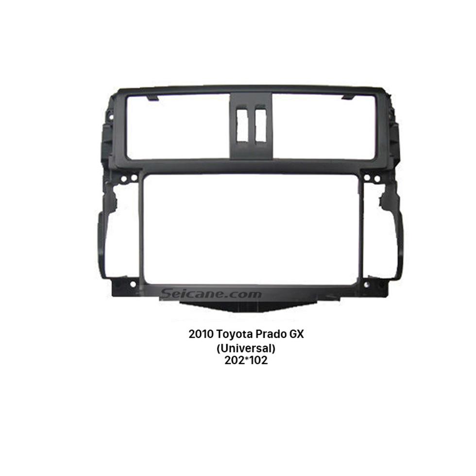 Seicane Universal Double Din 2010 Toyota Prado GX Car Radio Fascia Stereo Dash CD Audio Player Panel Frame