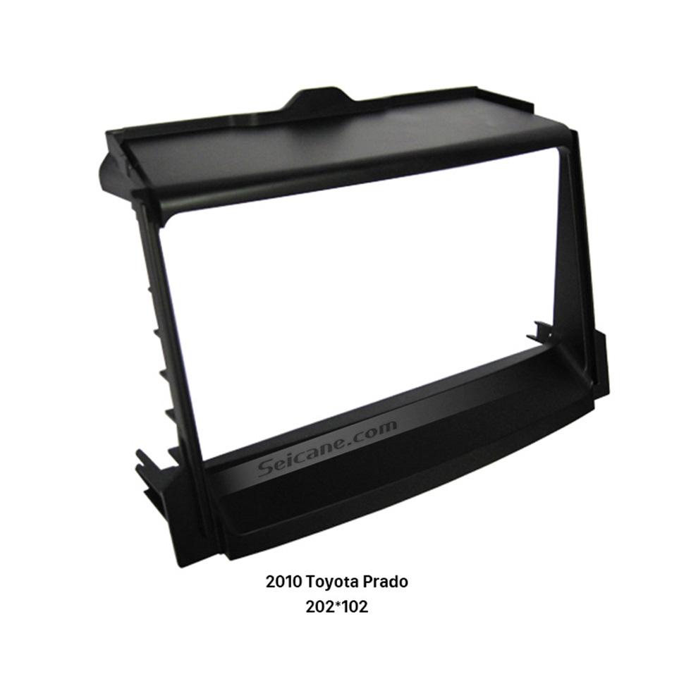 Seicane 202*102mm Double Din 2010 Toyota Prado Car Radio Fascia Dash Mount Kit Frame Panel Audio Cover