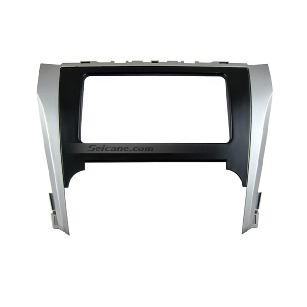 Seicane Black Silver Double Din 2012 Toyota Camry Car Radio Fascia Autostereo Panel kit Face Plate Dash CD