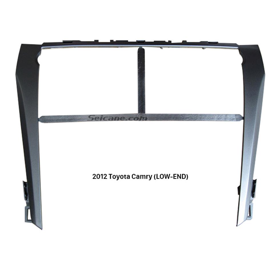 Seicane Silver Car Radio Fascia for 2012 Toyota Camry LOW-END Dash CD Trim Installation DVD Stereo Player