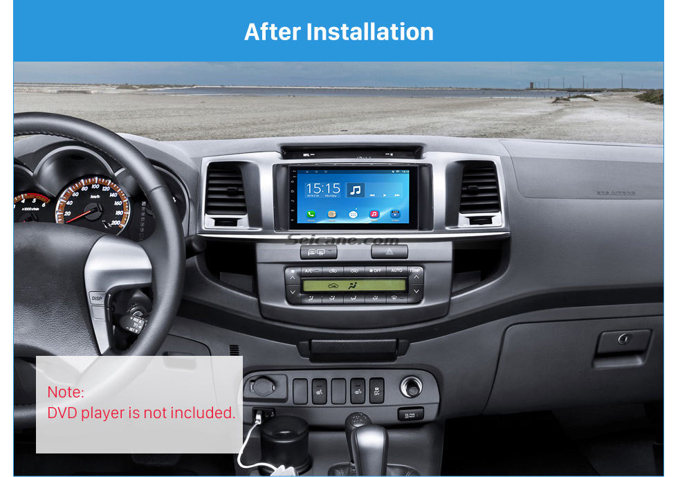 Seicane Nice Double Din 2012 2013 2014 Toyota Hilux Vigo Fortuner Car Radio Fascia Stereo Interface DVD Frame Audio Cover Panel Plate