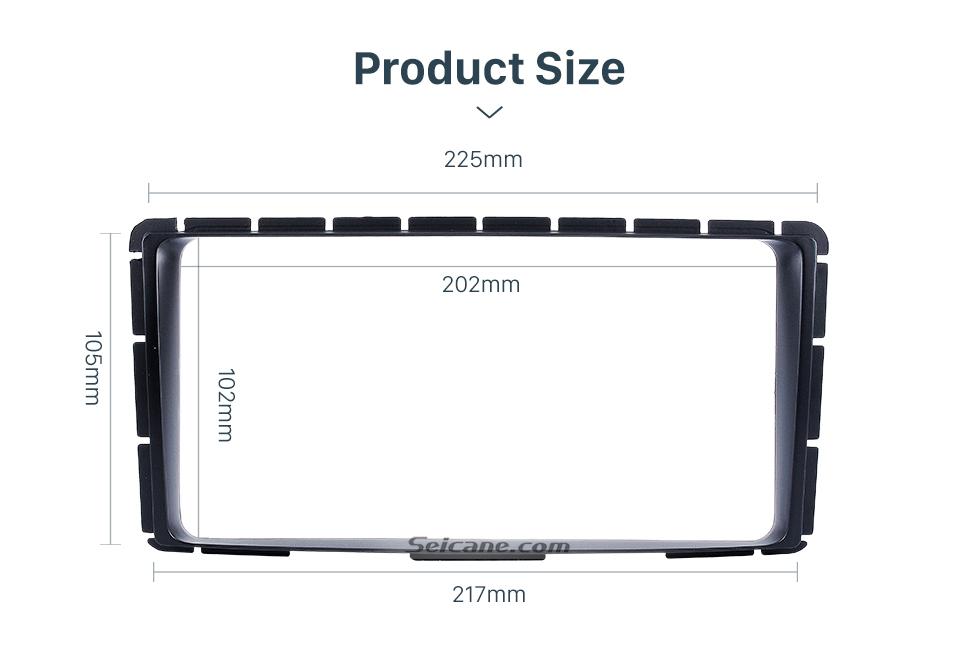 Seicane 202*102mm 2Din 2012 2013 2014 Toyota Hilux Vigo Fortuner Car Radio Fascia Installation Kit Audio frame Dash CD