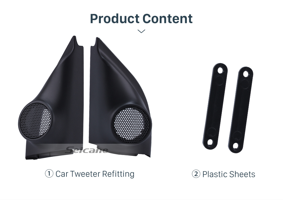 Seicane Audio Door Angle Gums for 2015 Honda Jazz/Fit Car Horn Refit Tweeter Refitting Boxes Stereo Installation 2PCS